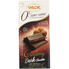 Valor, 0% Sugar Added, Creamy Dark Chocolate With Creamy Truffle, 3.5 oz (100 g)