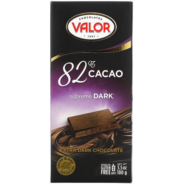Extra Dark Chocolate, 82% Cacao, 3.5 oz ( 100 g)