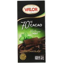 Valor, 黑巧克力,70% 可可豆,含薄荷,3.5 盎司(100 克)