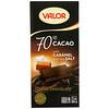 微樂, Dark Chocolate, 70% Cacao, With Caramel and Sea Salt, 3.5 oz (100 g)