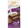Valor, Milk Chocolate Bar with Stevia, 0% Sugar Added, 3.5 oz (100 g)