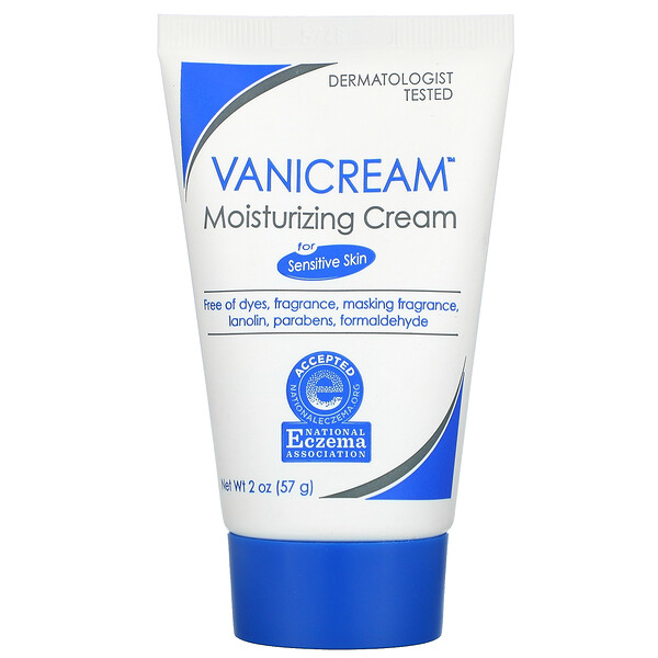 Vanicream, Moisturizing Cream, For Sensitive Skin, Fragrance Free, 2 oz (57 g)