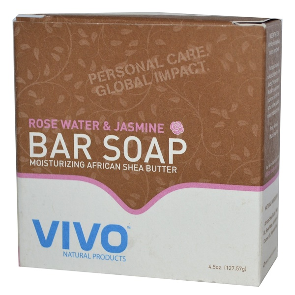 Vivo Natural Products, Bar Soap, English Lavender, 4.5 oz (127.57 g) (Discontinued Item)