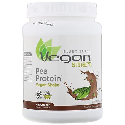 Купить VeganSmart Pea Protein, веганский шейк, шоколад, 585г