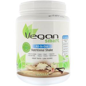 Веган Смарт, All-In-One Nutritional Shake, Vanilla, 1.42 lbs (645 g) отзывы покупателей