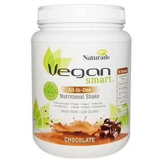 Vegan Smart, VeganSmart, All-In-One, Nutritional Shake, Chocolate, 24.3 oz (690 g)