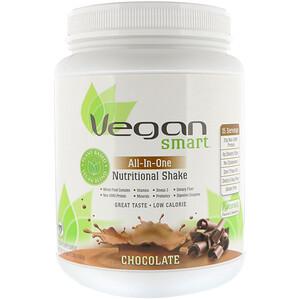 Веган Смарт, All-In-One Nutritional Shake, Chocolate, 1.51 lbs (690 g) отзывы покупателей
