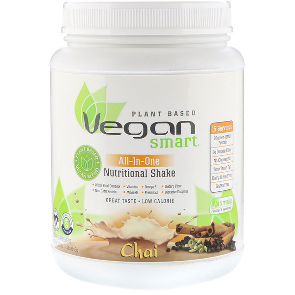 VeganSmart, All-In-One Nutritional Shake, Chai, 22.8 oz (645 g) (Discontinued Item)