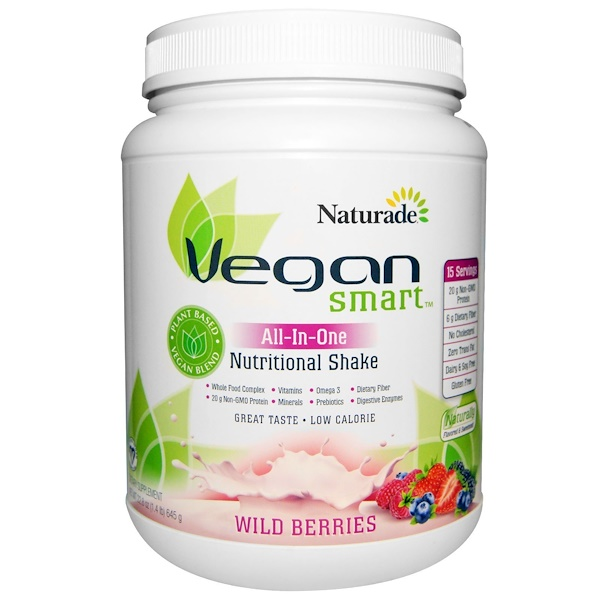 Vegan Smart, VeganSmart, All-In-One Nutritional Shake, Wild Berries, 22.8 oz (645 g)