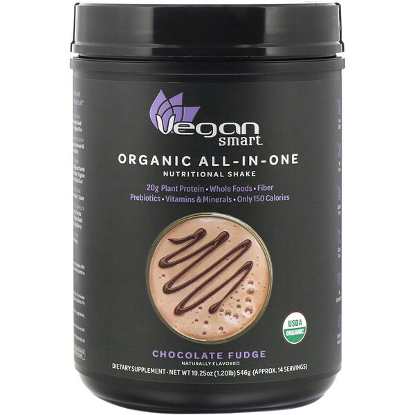 Organic All-In-One Nutritional Shake, Chocolate Fudge, 19.25 oz (546 g)
