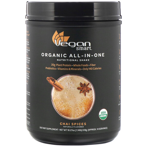 Organic All-In-One Nutritional Shake, Chai Spices, 18.27 oz (518 g)