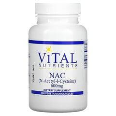 Vital Nutrients, NAC,600 毫克,100 粒素食膠囊