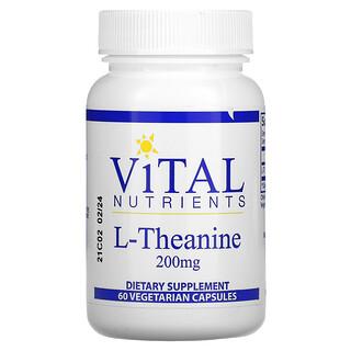Vital Nutrients, L- Theanine, 200 mg, 60 Vegetarian Capsules