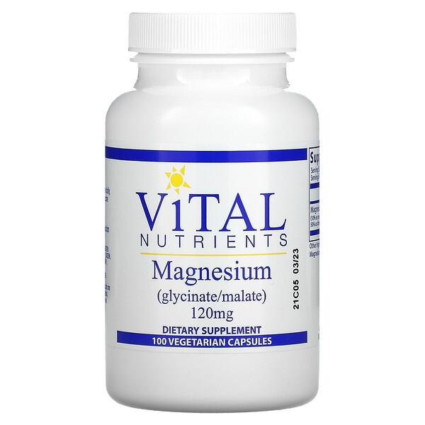 Magnesium, 120 mg, 100 Vegetarian Capsules