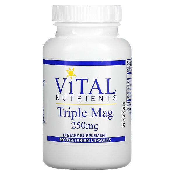 Triple Mag, 250 mg, 90 Vegetarian Capsules