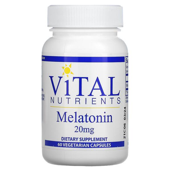 Melatonin, 20mg, 60 Veggie Capsules