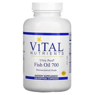 Vital Nutrients, Ultra Pure Fish Oil 700, Lemon, 120 Softgel Capsules
