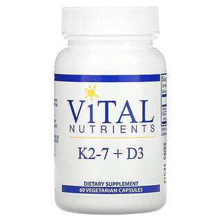 Vital Nutrients, K2-7 + D3, 60 Vegetarian Capsules