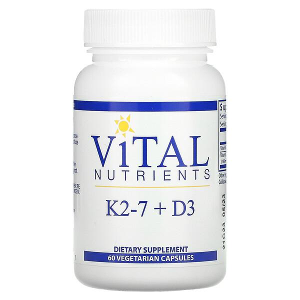 K2-7 + D3, 60 Vegetarian Capsules
