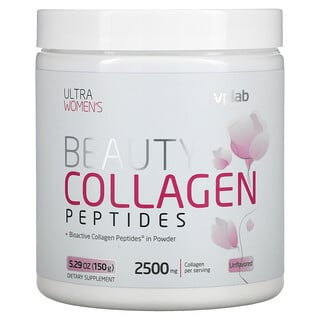 Vplab, Ultra Women's Beauty Collagen Peptides, Unflavored, 2,500 mg, 5.29 oz (150 g)