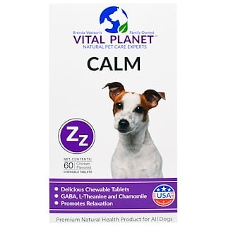Vital Planet, Calm, Chicken Flavored, 60 Chewable Tablets
