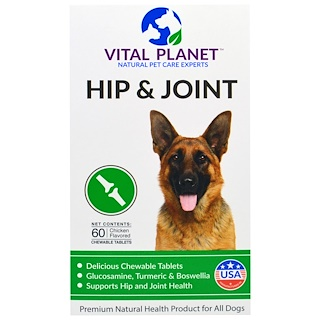 Vital Planet, Hip & Joint, Chicken Flavored, 60 Chewable Tablets