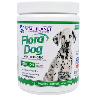 Vital Planet, Flora Dog 20 Billion Daily Probiotic, 3.92 oz (111 g)