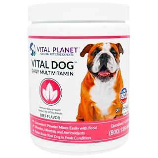 Vital Planet, Vital Dog Ежедневные Мультивитамины, Вкус Говядины, 2,64 унции (75 г)