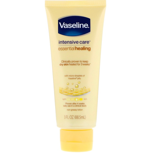 Vaseline, Intensive Care, Essential Healing Non-Greasy Lotion, 3 fl oz (88、5 ml)