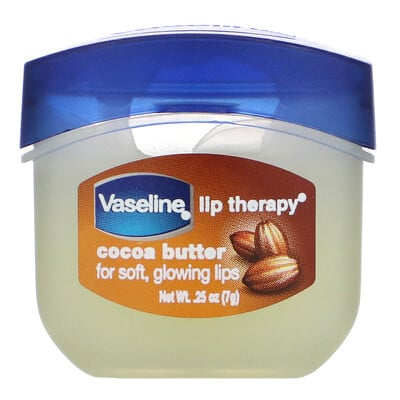 Купить Vaseline Lip Therapy, Cocoa Butter, 0.25 oz (7 g)