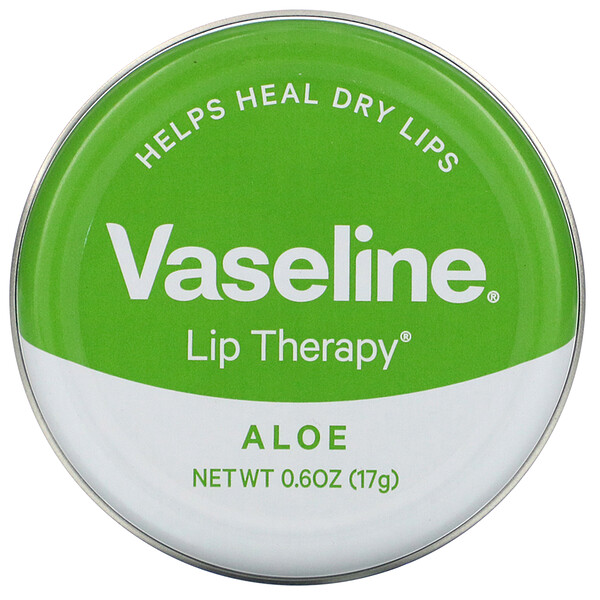 Vaseline, Lip Therapy, Aloe, 0.6 oz (17 g)