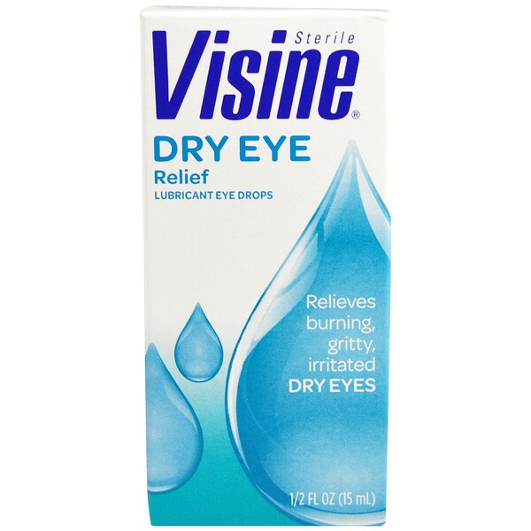 Visine, Dry Eye Relief, Lubricant Eye Drops, Sterile, 1/2 fl oz (15 ml)