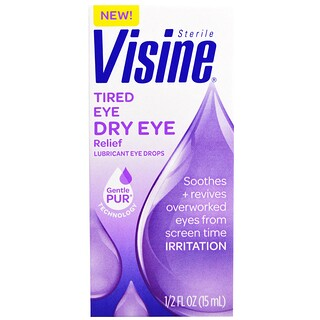 Visine, Sterile, Tired Eye Dry Eye Relief, 1/2 fl oz (15 ml)