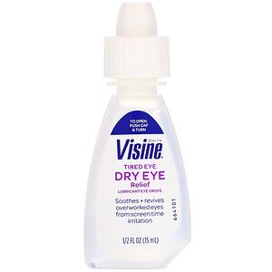 Визин, Tired Eye Dry Eye Relief, Sterile, 1/2 fl oz (15 ml) отзывы покупателей