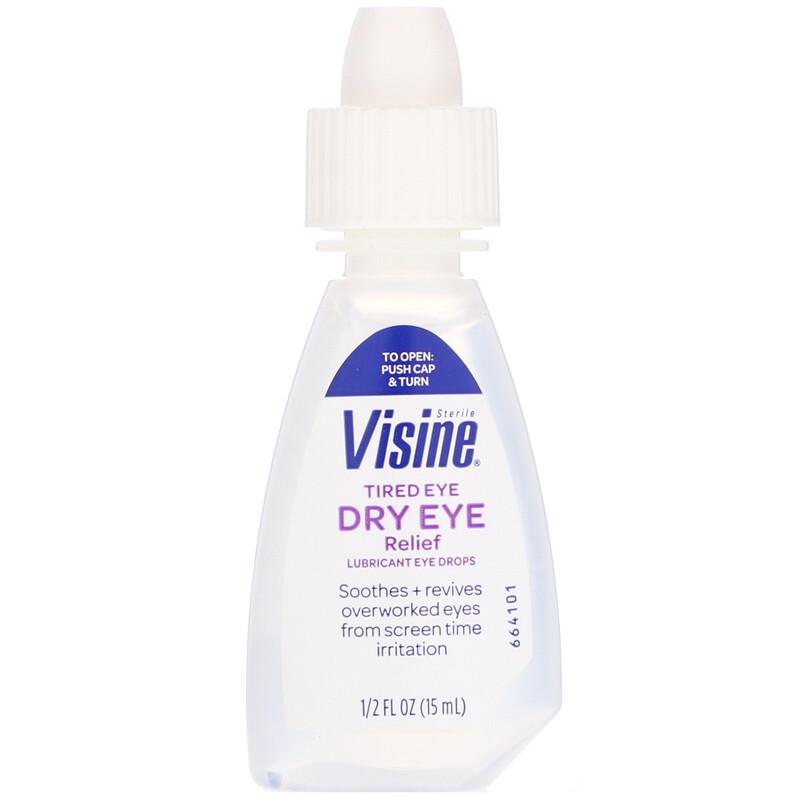 Visine, Tired Eye Dry Eye Relief, Sterile, 1/2 fl oz (15 ml)