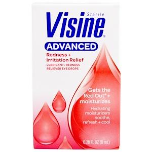 Визин, Advanced, Sterile, Lubricant, Redness Reliever Eye Drops, 0.28 fl oz (8 ml) отзывы покупателей