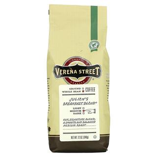 Verena Street, Julien's Breakfast Blend, Whole Bean, Medium Roast, 12 oz (340 g)