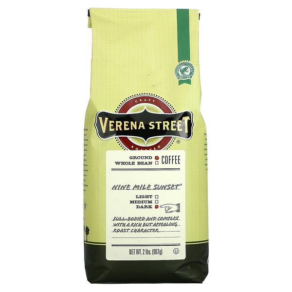 Nine Mile Sunset, Ground Coffee, Dark Roast, 2 lbs (907 g)