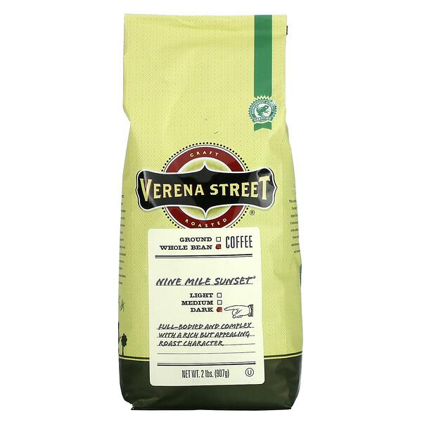 Verena Street, Nine Mile Sunset, Whole Bean, Dark Roast, 2 lbs (907 g)