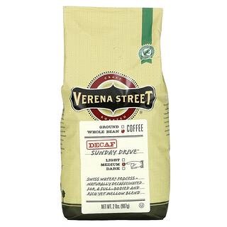 Verena Street, Sunday Drive, Decaf, Whole Bean, Medium Roast, 2 lbs (907 g)