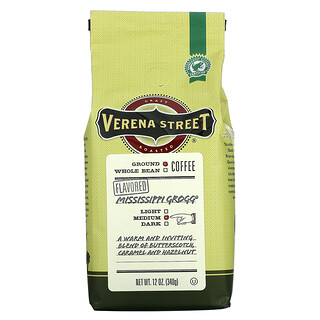 Verena Street, Mississippi Grogg, Flavored, Ground Coffee, Medium Roast, 12 oz (340 g)