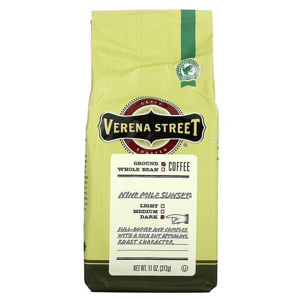 Verena Street, Nine Mile Sunset, Ground Coffee, Dark Roast, 11 oz (312 g)