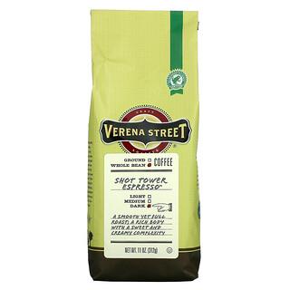 Verena Street, Shot Tower Espresso, Whole Bean, Dark Roast, 11 oz (312 g)