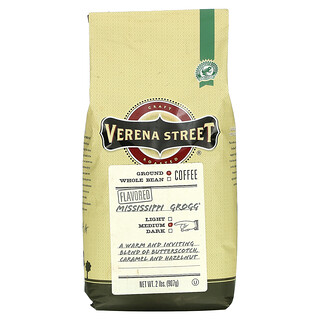 Verena Street, Mississippi Grogg, Flavored, Ground Coffee, Medium Roast, 2 lbs (907 g)