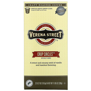 Verena Street, Crop Circles, Flavored, Craft Roasted Coffee, 32 Single-Serve Brew Cups, 0.37 oz (10.5 g) Each