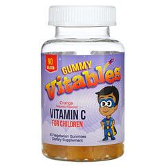 Vitables, Gummy Vitamin C For Children, No Gelatin, Orange, 60 Vegetarian Gummies