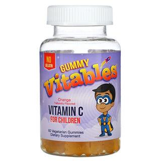 Vitables, 儿童维生素 C 软糖,橙子味,60 粒素食软糖