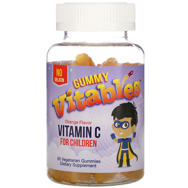 Vitables, Gummy Vitamin C for Children, Orange Flavor, 60 Vegetarian Gummies