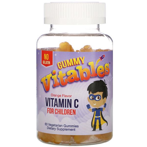 兒童維生素 C 軟糖,柳丁味,60 粒素食軟糖