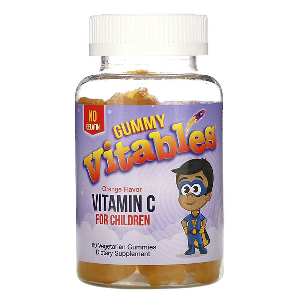 Gummy Vitamin C for Children, Orange , 60 Vegetarian Gummies